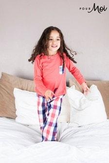 Pyžamová súprava s károvanými nohavicami Pour Moi Mini Moi
