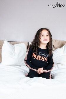 Pyžamová súprava Pour Moi Mini Moi so sloganom z bavlneného džerseju (All About The Sass)