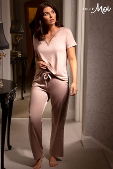 Pour Moi Jersey and Satin Pyjama Set