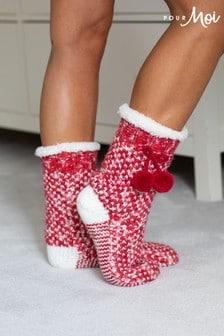 Pour Moi Cosy Space Dye Knit Slipper Sock
