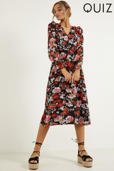 Quiz Floral Print Midaxi Dress