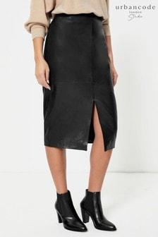 Urban Code Leather Midi Skirt