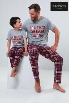 Threadboys Boys Christmas Graphic Pyjama Set