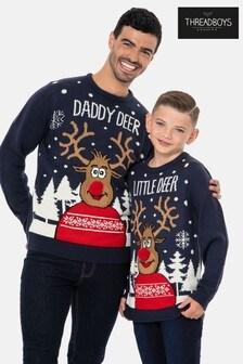 Threadboys Family Reinder Christmas Jumper