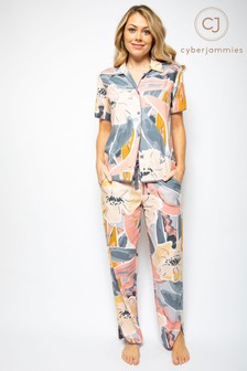 Cyberjammies Hallie Abstract Print PJ Set