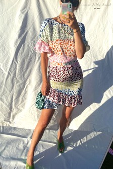 שמלהעם הדפסמנומר צבעוני של Never Fully Dressed דגםMarakesh