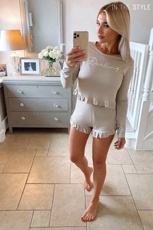 In The Style Billie Faiers Stone 'Darling PJ Set