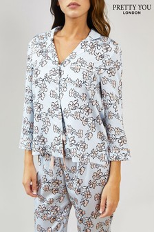 Pretty You London Floral Print Pyjama Shirt