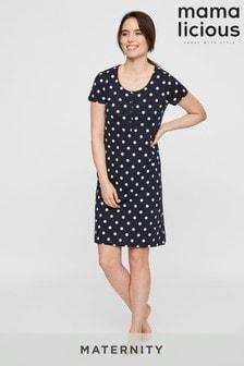 Mamalicious Maternity Nursing Jersey Night Dress