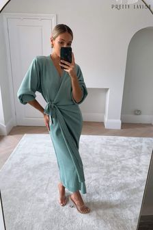 Pretty Lavish Beau Wrap Midi Dress