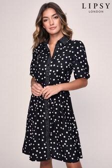 Lipsy Short Sleeve Spot Shirt Dress