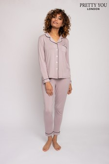 Pretty You London Bamboo Classic Pyjama Set
