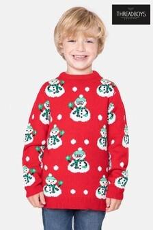 Threadboys Christmas All Over Print Jumper