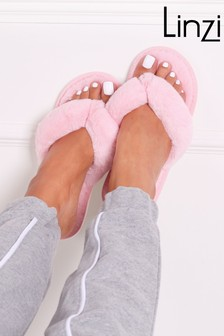 Linzi Dream Fluffy Toe Post Slipper