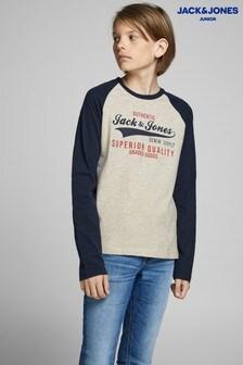 חולצת טי  אמריקאיתארוכה שלJack & Jones לילדים
