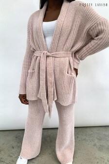 Pretty Lavish Chenille Cardigan and Trouser Co-ord Set