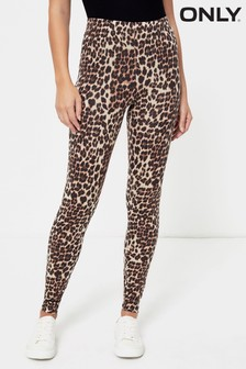 Only Leggings mit Leopardenmuster