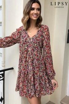 שמלת טוניקה עם מלמלה שלLipsy