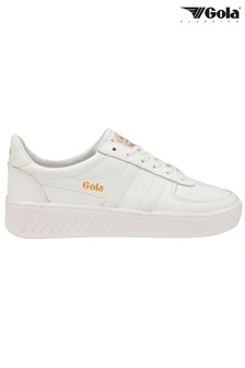 Gola Grandslam Leather Lace-Up Trainers