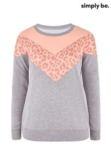 Simply Be Chevron Animal Sweatshirt