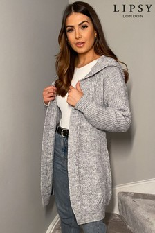 Lipsy Hooded Cable Cardigan