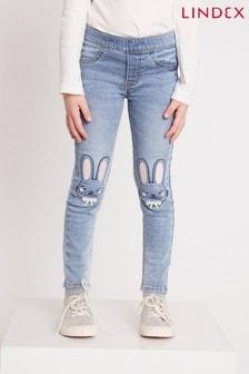 Lindex 兒童兔子印花牛仔褲