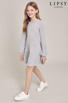 Lipsy Langärmeliges Jerseykleid im Stufendesign