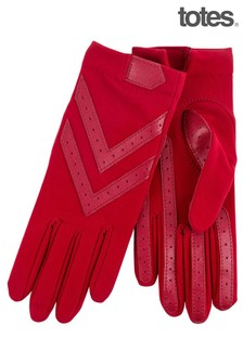 Totes Original Stretch Gloves With Brushed Lining & Smartouch