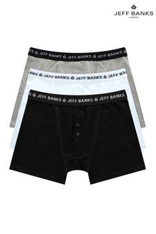 Jeff Banks Mens 3 Pack Multipack Boxers