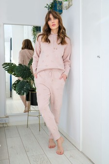 Love & Roses Star Embossed Knitted Joggers