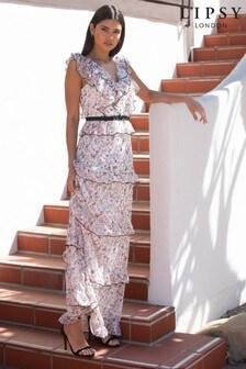 Lipsy Ruffle Tiered Maxi Dress
