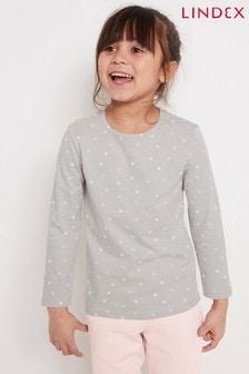 חולצת טי ארוכה של Lindex לילדים עם הדפס