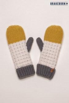 Brakeburn Colour Block Knit Mittens