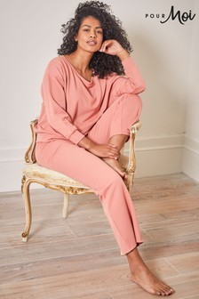 Pour Moi Lounge Long Sleeve Jersey Slouch Top