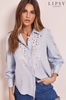 Lipsy Cutwork Embroidery Linen Shirt