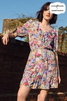 שמלת מעטפת קומות עם מלמלה שלLove & Roses