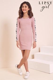 Lipsy Branded Tape Rib Dress