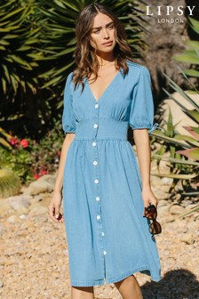 Lipsy Lightweight Denim Midi Dress