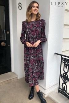 שמלה מידי רפויה שלLipsy עם שרוול ארוך