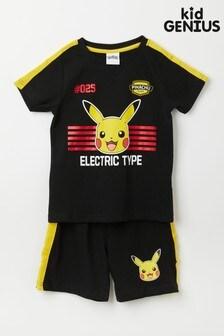 Kid Genius Long Sleeve Pikachu PJ Set