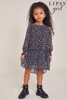 Lipsy Mini Ditsy Print Tiered Dress