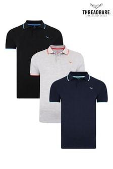 Threadbare Polo T-Shirt Pack Of 3