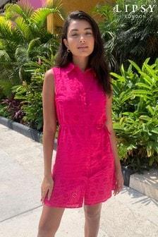 Lipsy Printed Sleeveless Shirt Dress
