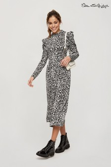 Miss Selfridge Animal Print Midi Dress
