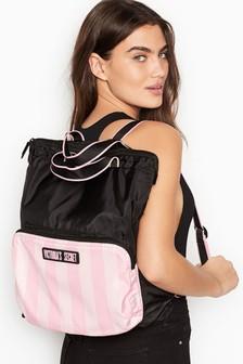 Victoria's Secret Signature Stripe Packable Backpack