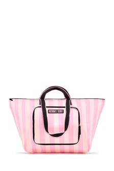 Victoria's Secret Signature Stripe Packable Tote