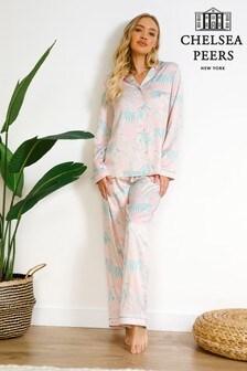 Chelsea Peers Wellness Project Premium Satin Long Pyjamas set