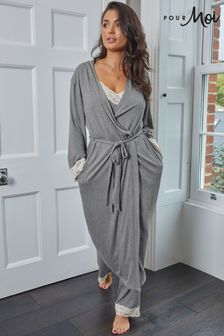 Pour Moi Sofa Loves Lace Longline Soft Jersey Gown