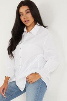 Quiz Cotton Cuffed Sleeve Shirt