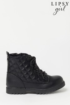 Lipsy Quilted Biker Boot (Younger)